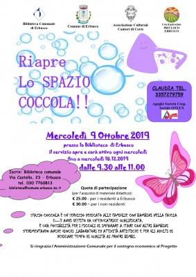 Riapre lo Spazio Coccola!!